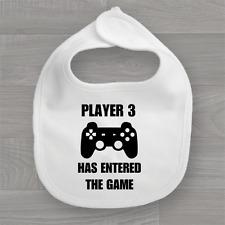 Player 3 Has Entered The Game Baby Bib ❤ Funny Feeding Dribble Bandana Muslin ❤