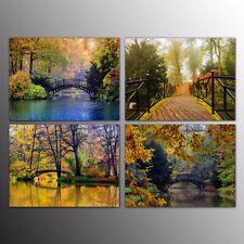 Large Canvas Wall Art Canvas Prints Painting For Home Decor Small Bridge 4pcs