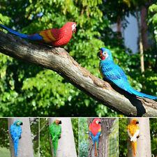 Garden Decor Model Simulation Parrot Resin Toy Artificial Figurine Half Side