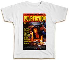 Pulp Fiction Movie Poster T-Shirt Uma Thurman Samuel L Jackson Top Gift Present