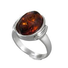 Schmuck-Michel Damen Ring Silber 925 Bernstein 14x10 mm Gr. 50-65 wählbar (3330)