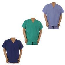 Unisex Clinic Physician Medical Doctor Nurse reversible Uniform Scrub Top XS-3XL