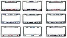 MLB Teams Chrome Metal Laser Cut License Plate Frame Auto Truck Car New