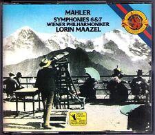 Lorin Maazel: MAHLER SYMPHONY NO. 6 & 7 CBS 3cd 1985 Vienna Filarmonica Giappone