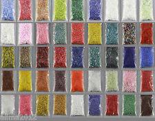 10g Glas Perlen, Röhrchen (25€/100g) Stiftperlen 2mm,4,5mm, Farbauswahl