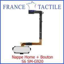 Nappe Home avec Bouton Blanc pour Samsung Galaxy S6 SM-G920 SM-G920F