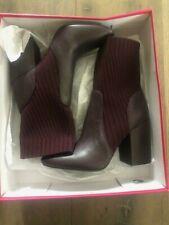"Vince Camuto ""Diandra"" Textile Ankle Boots Vamp/Wine Color NWB Mult Sizes"