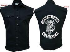 SONS OF ODIN VALHALLA/Worker/Viking/Celtic/Rock/Tribal/Work Shirt/Sleeveless/Top