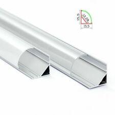 Aluprofil Ecke Aluminium Eckprofil Alu Schiene Abdeckung Leiste für LED Stripes