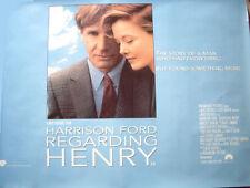 Cinema Poster: REGARDING HENRY 1991 (Advance Quad) Harrison Ford Annette Bening