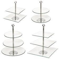2 3 vetro a strati pasticceria torta torta nuziale piattaforma Cupcake Stand Tier Piastre Nuovo