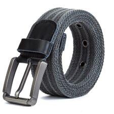 Men Military Workout Waist Belt Pin Buckle Waistband Army Tactical Canvas Girdle
