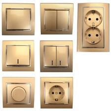 Lichtschalter Serienschalter Dimmer Steckdose farbe champagner/silber