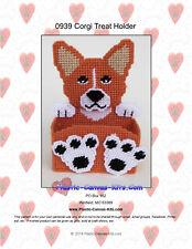 Corgi Dog Treat Holder- Plastic Canvas Pattern or Kit