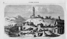 Stampa antica ARQUATA SCRIVIA la Torre Alessandria 1859 Old print