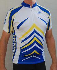 Jaggad Cycling bike Jersey Blue Yelllow White Men Women SLIM FIT XS S M L XL XXL