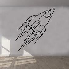Cohete Barco Pegatina de vinilo para Pared Arte Habitación Infantil Decor