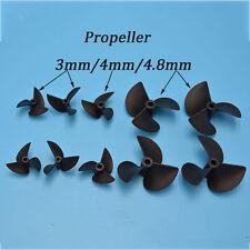 "1Pair 3 Blade Nylon Left Right Rotation Propeller Prop 4mm 3/16"" 1/8"" RC Boat"