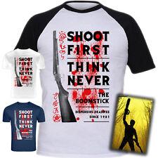"""Ash Vs Evil Dead """"el Boomstick"""" T-Shirt serigrafiado"""