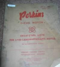 Perkins 270 D Motor ET-Liste z.B. Claas und MF