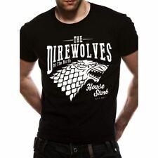 Men's Game of Thrones direwolves Negro T-Shirt