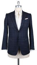 New $3900 Luigi Borrelli Dark Blue Wool Blend Sportcoat - (GU3BRC130670)