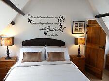 Spread your wings my little butterfly little mix wall art sticker girls bedroom