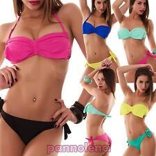 Bikini donna costume da bagno brasiliana fascia FIOCCO due pezzi nuovo SE611