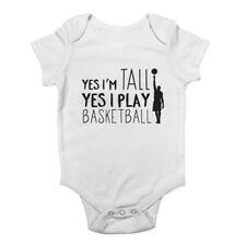 Oui je suis grand Oui je joue au basket garçons et filles Baby Grow Vest Body