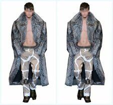 Winter Men's Parkas Overcoat Faux Mink Fur Jacket Outwear Full Length Warm Coat