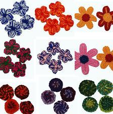 Häkelperlen Wolle Häkel Perlen Set Blumen Blüten BACATUS *Preisbrecher*