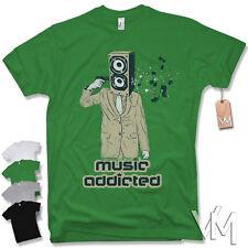 Music Addicted T-Shirt - KULT DJ Rock Party House Musik Dance Hip Hop Rap S-XXL