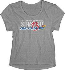 Kansas Jayhawks 13 Straight Basketball Big 12 Champion WOMEN Gray T-Shirt