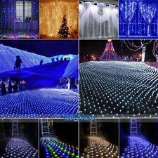 96-1200 LED Curtain Net Mesh String Fairy Light Wedding Christmas Decor Lamp NEW