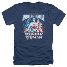 DC Comics Wonder Woman American Heroine Adult Heather T-Shirt Tee