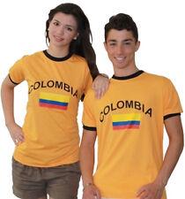 Kolumbien Fan T-Shirt Fußball Retro Shirt Trikot Orange Unisex S M L XL XXL XXXL