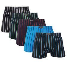 5 Stück Herren Boxershorts Unterhose Baumwolle Gr. M-3XL schwarz gestreift
