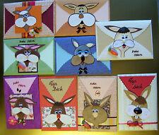 3D Grußkarte,Ostern,Geburtstag etc,lustiger Hase,Hasi,Wackelaugen,Hasengesicht