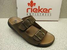 rieker ® Sale reduziert,   Natur Leder Pantolette braun (R461)