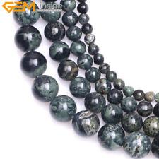 """New Natural Round Dark Blue Rhyolite Kambaba Jasper Beads for Jewelry Making 15"""""""