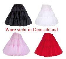 50er 60er Jahr Petticoat Tüllrock Dirndl Rock Unterrock Tütü Damenrock Kurz 45cm