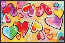 Salonloewe Fußmatte Heartbeat waschbar Schmutzmatte bunt Herzenfußmatte