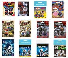 SPIDERMAN superman MARVEL transformers DR WHO star wars - OFFICIAL BADGE PACK