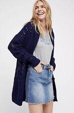 NEW Free People Lemon Drop Alpaca Hooded Oversized Cardigan Sweater XS S M