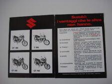 advertising Pubblicità 1973 MOTO SUZUKI GT 380/550/750/T 500