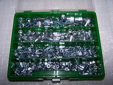 300tlg Nietmuttern Sortiment Alu Stahl oder Edelstahl kl. Senkkopf Kunststoffbox