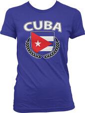 Cuba Shield Crest Coat Of Arms Cuban Country Born Heritage CUB Juniors T-Shirt