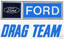 1960's 3x5 Ford Drag Team Logo Sticker Decal