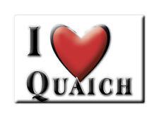 SOUVENIR UK - SCOTLAND MAGNET UNITED KINGDOM I LOVE QUAICH (PERTH AND KINROSS)