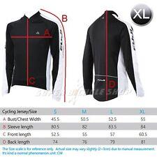 FUJI PA-10AMJSI08 Bike Cycling Long Sleeve Men's Jersey , Black x White